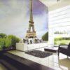 Eiffel Tower Mural Wallpaper