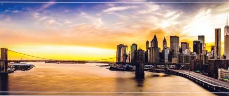 City Sunset Mural Wallpaper