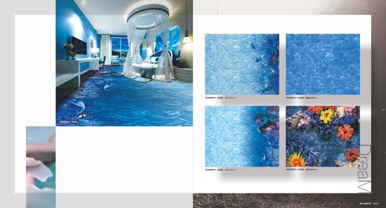 3D Carpet Sea Water