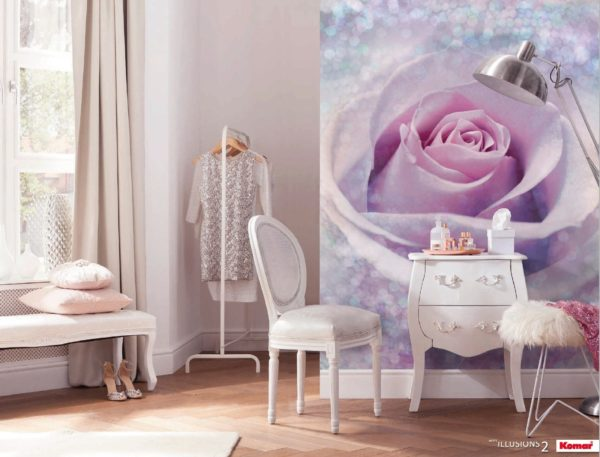 Delicate Rose Mural Wallpaper