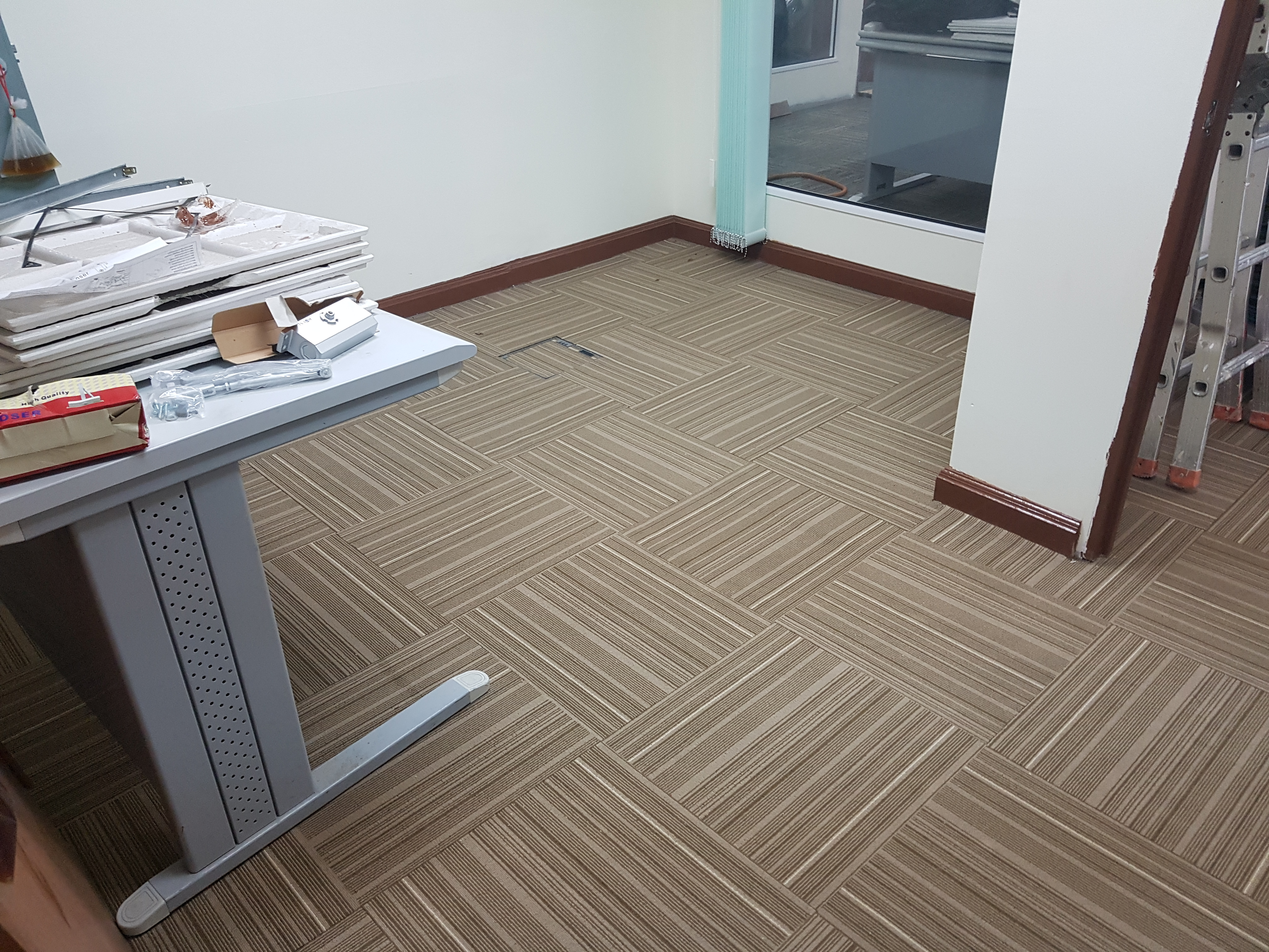 Carpet Tiles Installation for Small Office