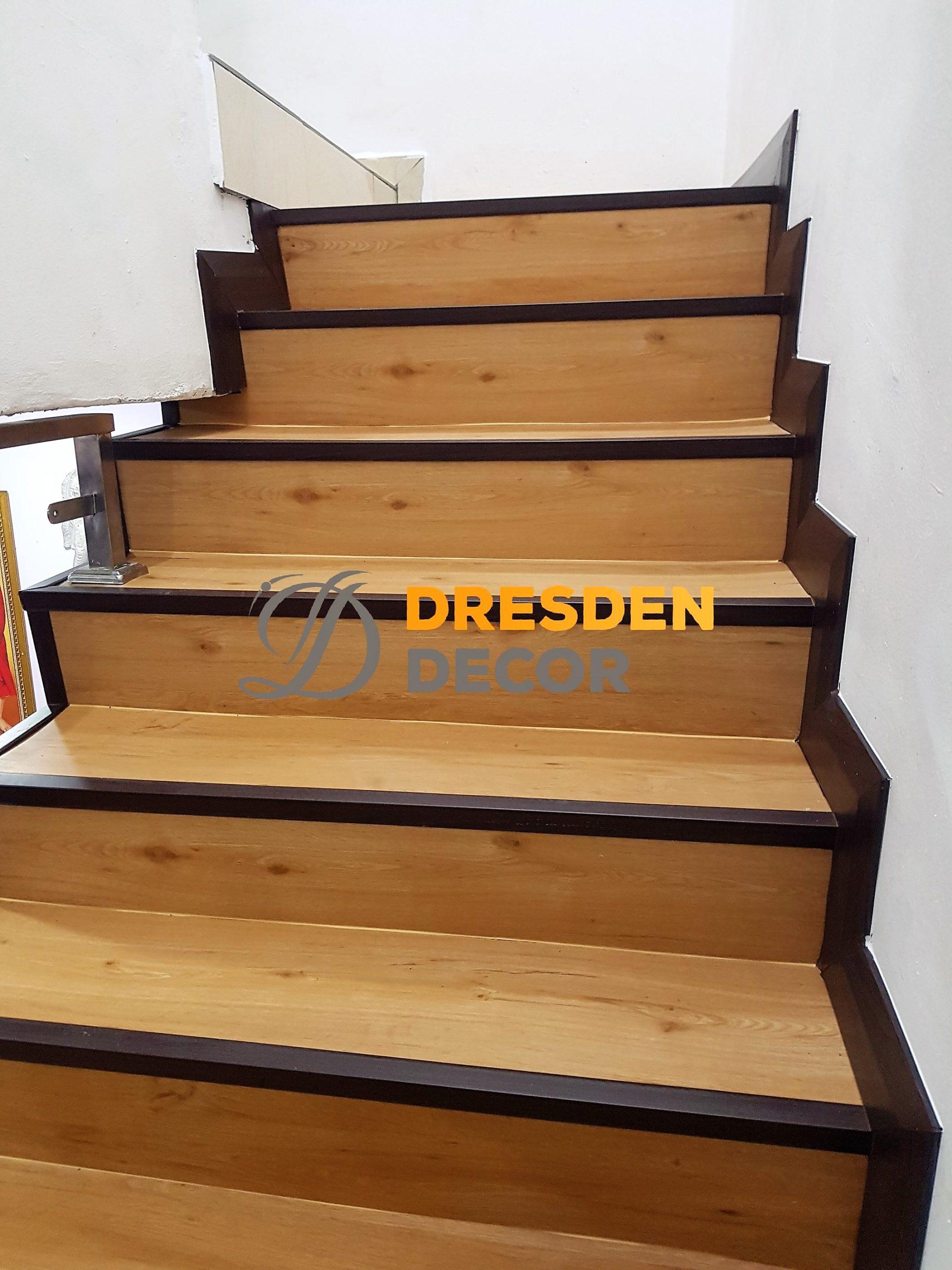 Residential 3.0mm PVC Korean Vinyl Staircase