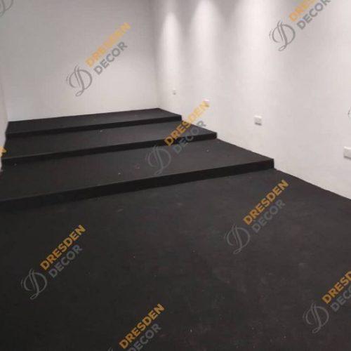 Private Commercial -PP Black Carpet Tiles