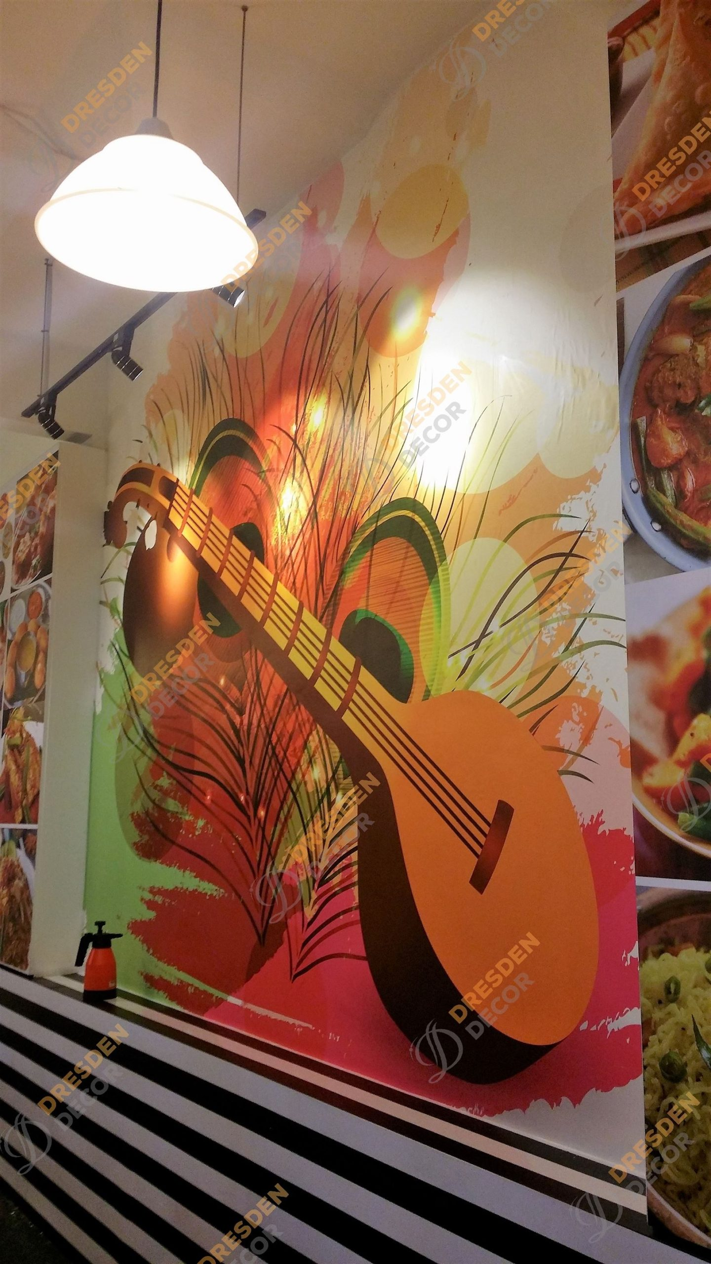 Thircy Spice Cafe-Customized Mural Wallpaper